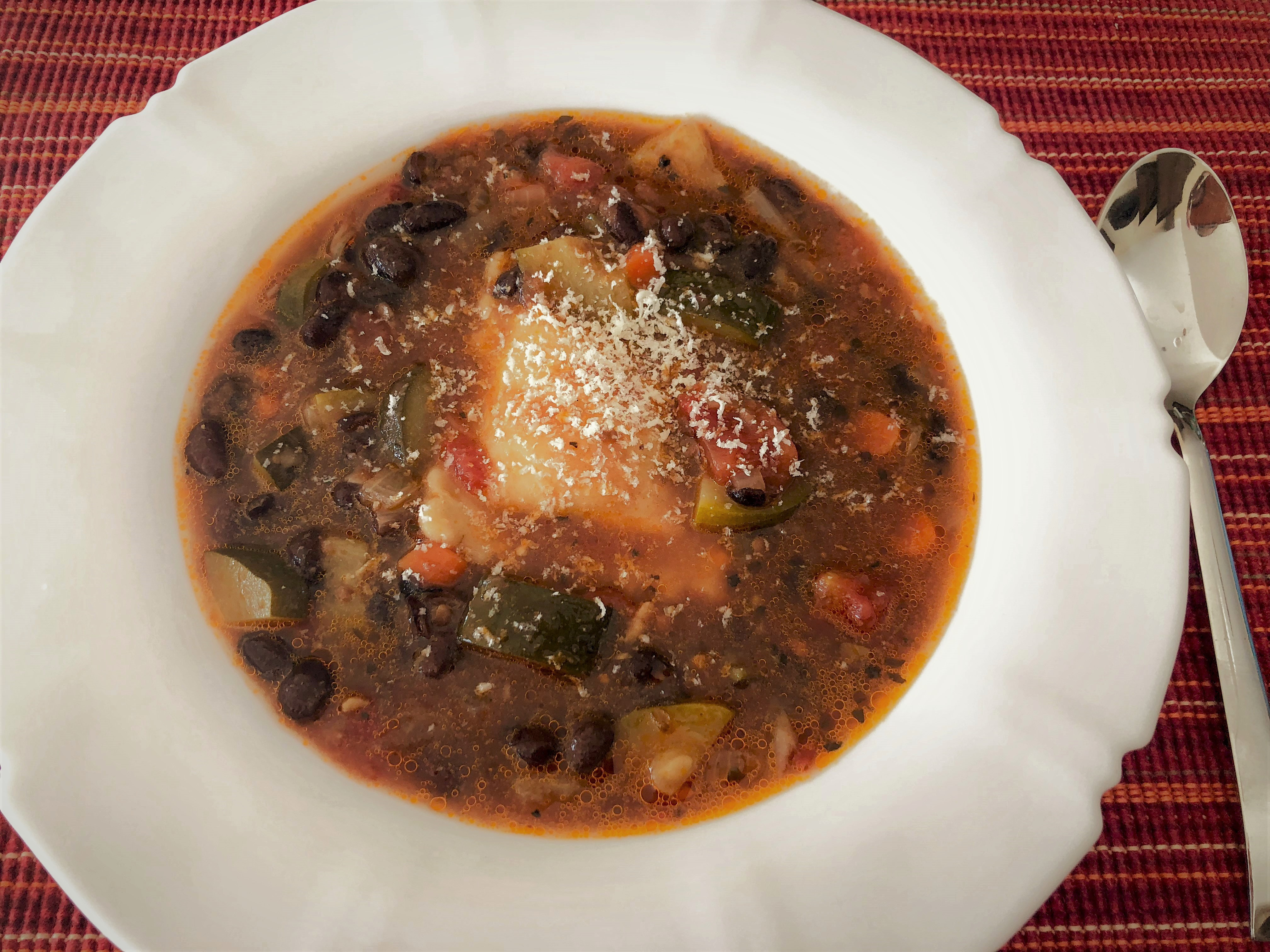 Homemade Minestrone Soup with Ravioli - The Kitchen Docs