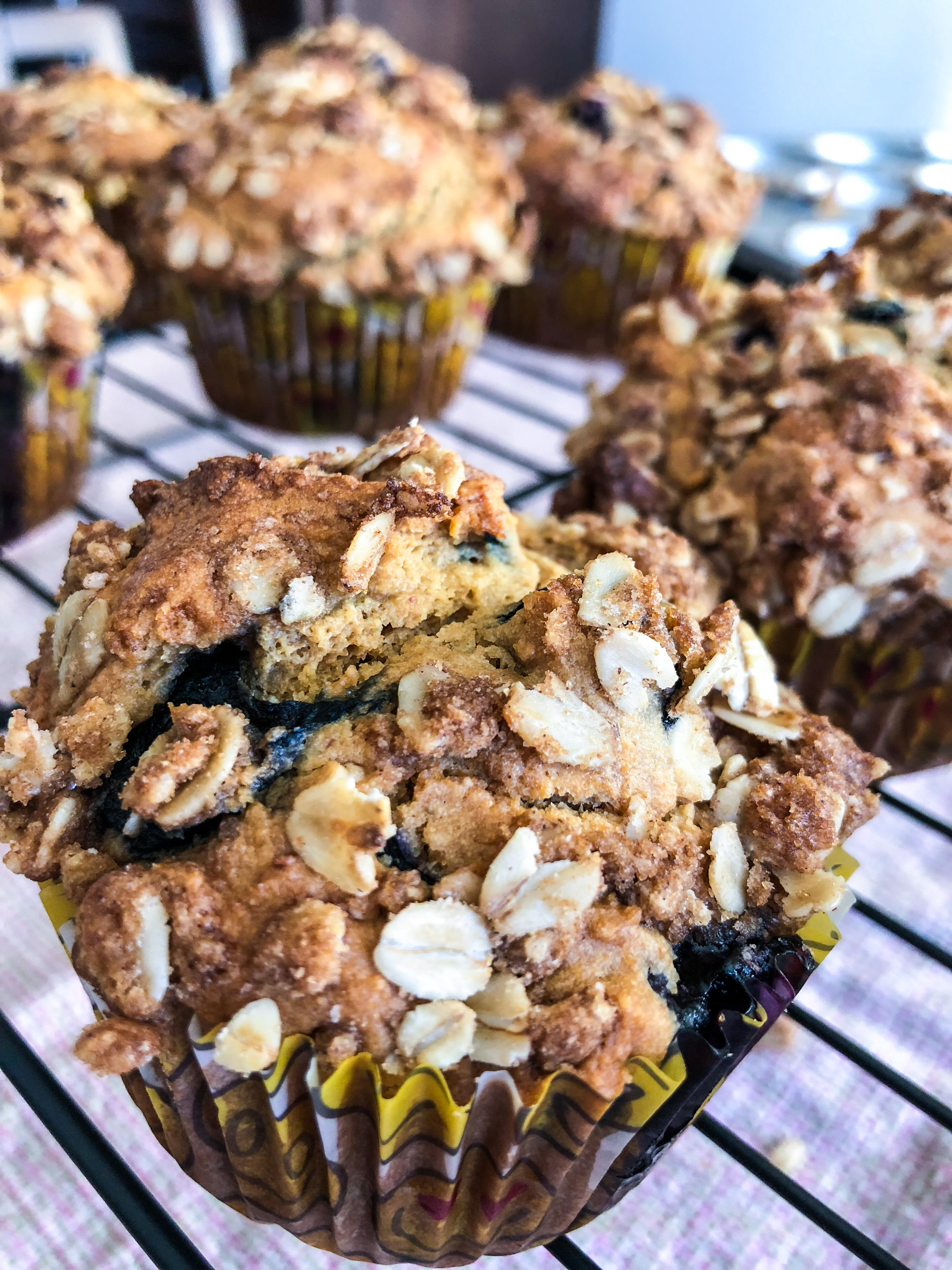 Healthy Blueberry Oatmeal Breakfast Muffins The Kitchen Docs